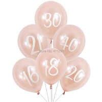 Globos de cumpleaños de oro rosa 16 18 20 21 30 40 50 60 globo de cumpleaños 21 chica mujer feliz cumpleaños banner decoraciones de la fiesta