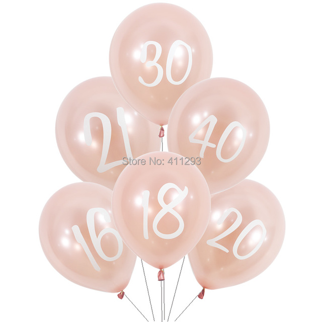 Rose Gold Birthday Balloons 16 18 20 21 30 40 50 60th Balloon 21st Girl Women Happy Banner Party Decorations