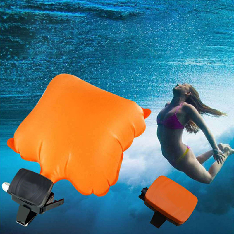 Portable Anti Drowning Lifesaving Bracelet Float Swimming Safety Wristband With Co2 Cylinder Inflatable Bladder Self Rescue