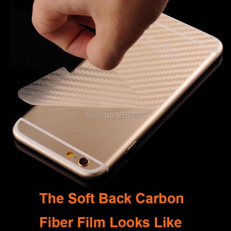 "Motorola Moto G7 güç 6.2 ""3D anti-parmak izi karbon Fiber arka Film arka Sticker ekran koruyucu (temperli cam)"