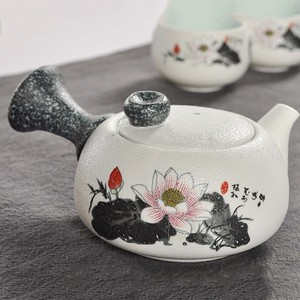 Image 2 - 7Pcs Cute Embroidered Bird Tea Set Creative Kung Ku Teapot Cup Set Japanese Style Thick Pottery Teaware As Gifts
