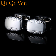 2017 NEW  Luxury Shirt Cuff link for Men's Gifts Unique Wedding Silver Cufflinks For Mens Business Gift Suit Sleeve Buttons vintage sell high buy now stock market cufflinks for men shirt cuff buttons business sleeve nail steel brothers gift for friend