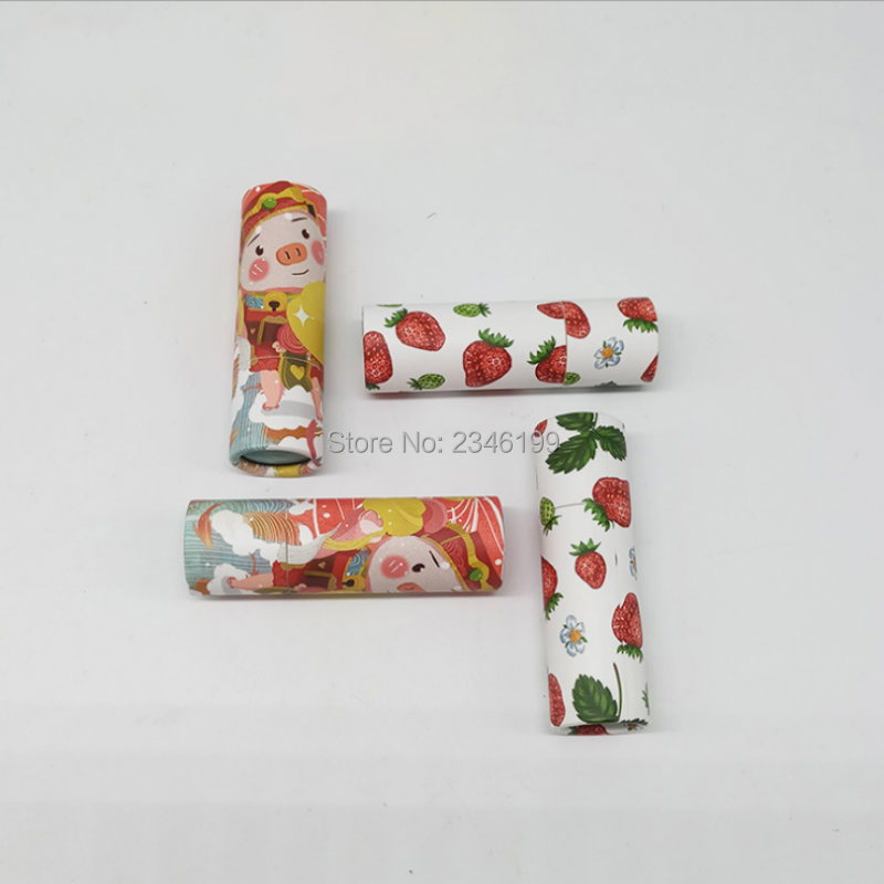 Empty Paper Lip Balm Tube 12 1mm Lucky Cat Papery Lipstick Tube Strawberry Paper Lip Balm
