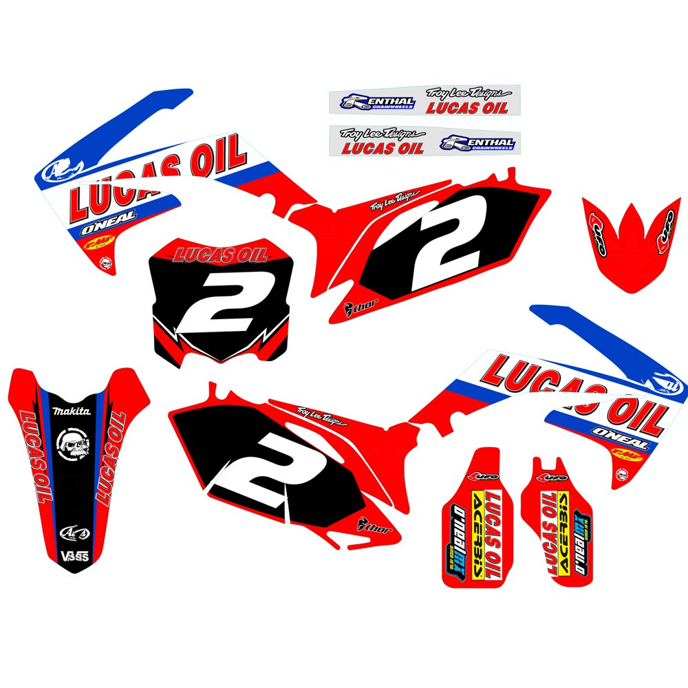 GRAPHICS & BACKGROUNDS DECAL STICKER for Honda CRF250R CRF250 2010 2011 2012 2013 CRF450R CRF450 2009 2012 CRF 250 250R 450 450R-in Decals & Stickers from Automobiles & Motorcycles    1