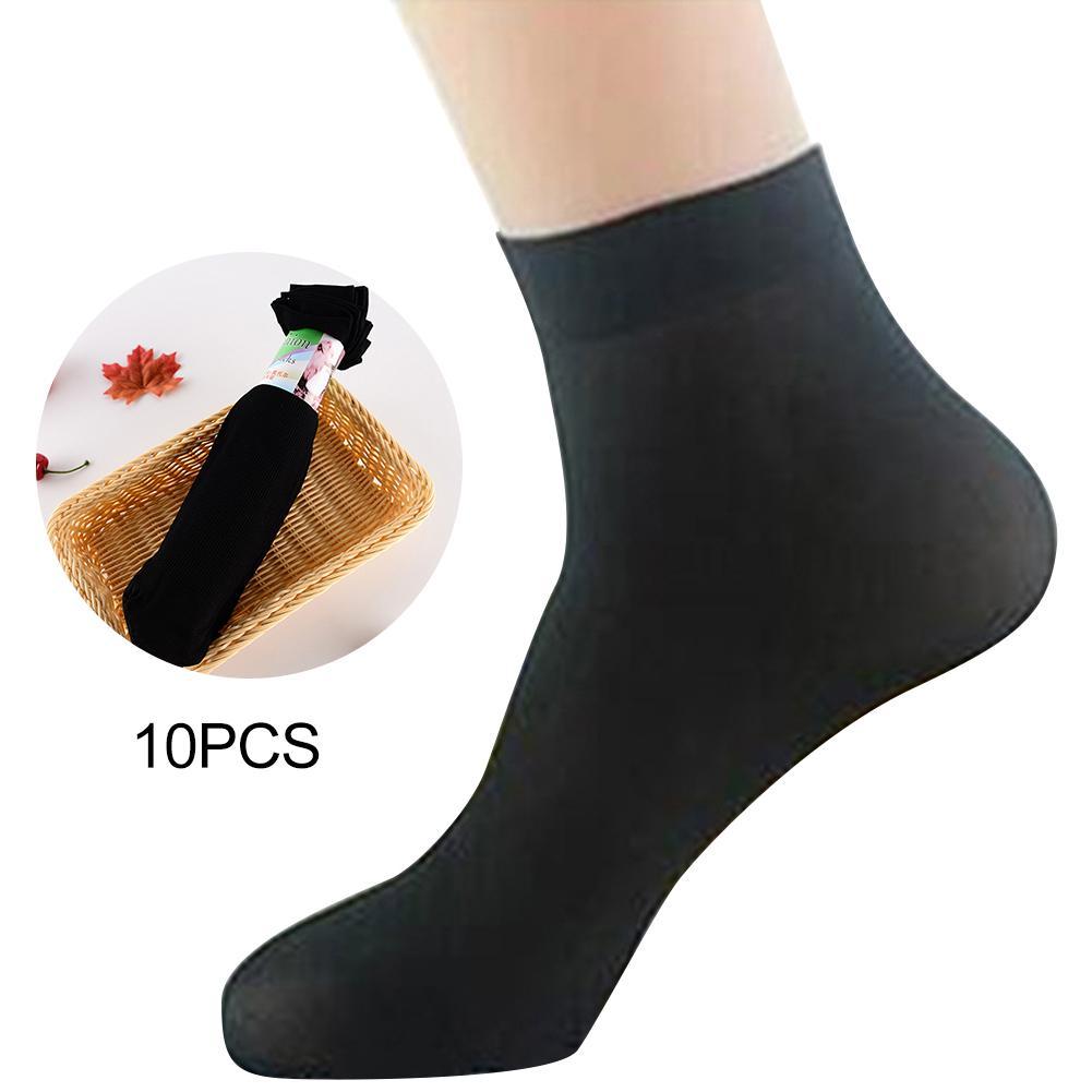 10 Pairs Men's Socks Seamless Breathable Thin Short Stockings Elastic Solid Color Foot Bathing Adult Short Socks