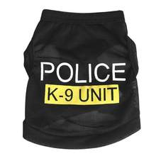 29ed0283d T-Shirts Clothes Summer Dog Tops New Hot Sale Pets Puppy Apparel Costumes Black  Police Dog Clothes