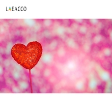 Laeacco Red Heart Light Bokeh Backdrop Newborn Baby Photography Backgrounds Customized Photographic Backdrops For Photo Studio professional 2x3m pro tye die muslin baby photographic backdrop camera fotografica newborn backgrounds for photo studio dm075
