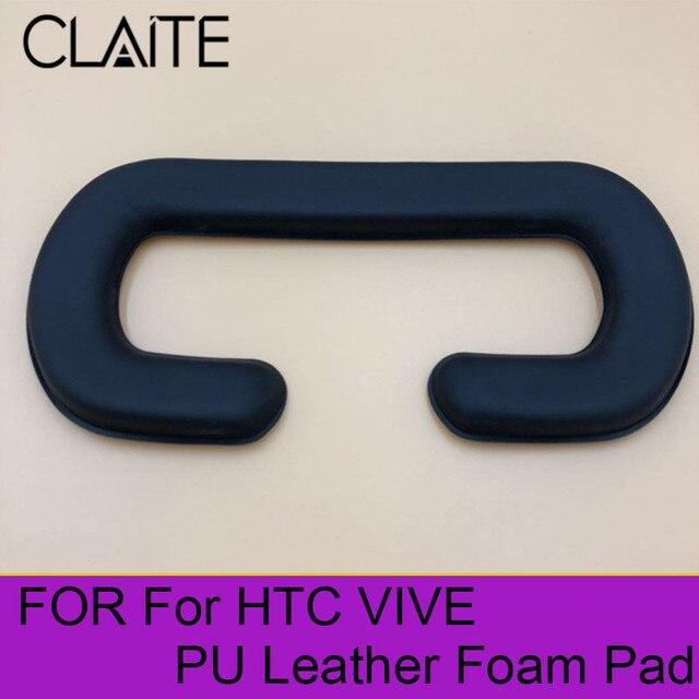 Cliate 21*11 cm 1 pcs Face Espuma Preta Substituição Pad Olho Para HTC fone de Ouvido VR VIVE de Couro PU cobertura de espuma Máscaras de Realidade Virtual