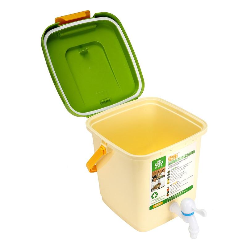 Baril de Compost de seau de composteur de recyclage Durable du ménage 10L pour la Fermentation de déchets alimentaires pour l'utilisation organique de jardin de fumier