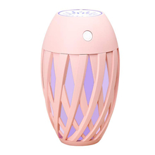 Vaporizer Humidifier USB Small Mini Humidifier with Two Adjustable Mist Mode / Timer, Automatic 7 Color LED Lights, Olive Type цена