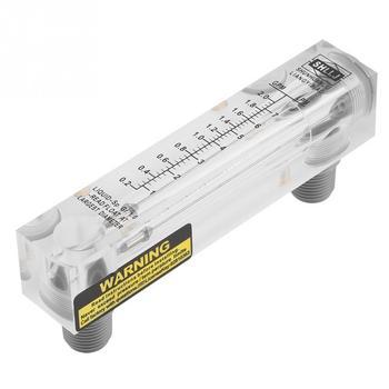 Przepływomierz szklany 0.2-2GPM 1-7LPM LZM-15 Panel typ szklany płynny przepływomierz licznik pomiarowy przepływu wody
