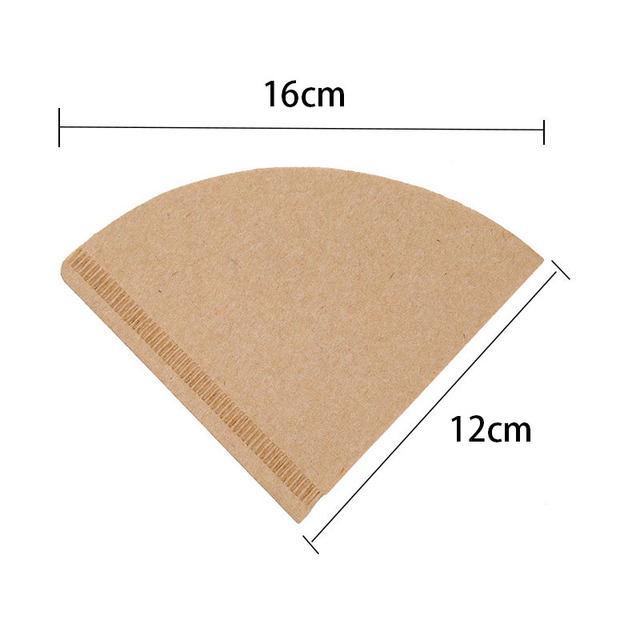 Hot V60 Filter Cup Special 102 Coffee Filter Paper Coffee Filter Papers Unbleached Original Wooden Drip Paper Cone Shape Coff 2