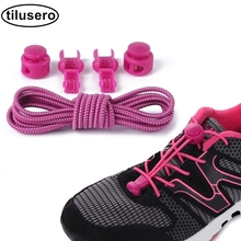 Stretching Lock Lace 1 Pair Of Locking Shoe Laces Elastic Sneaker Shoelaces Shoestrings Running/Jogging/Triathlon F033