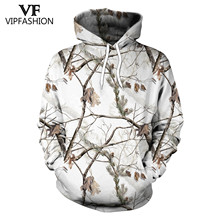 VIP FASHION Camouflage Hoodie Sweatshirt Men 3D Printed hunting  Plum Flower Tree Hoodies Unisex Hiphop Streetwear Sweetshirts