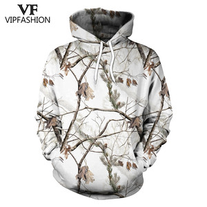 Image 1 - VIP FASHION Camouflage Hoodie Sweatshirt Men 3D Printed hunting  Plum Flower Tree Hoodies Unisex Hiphop Streetwear Sweetshirts