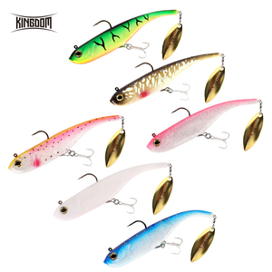 Image 3 - Kingdom 2019 Hot Fishing lures 200mm 52g Soft Baits With Spoon On Tail Sinking Good Action Artificial Bait PVC Soft Lures