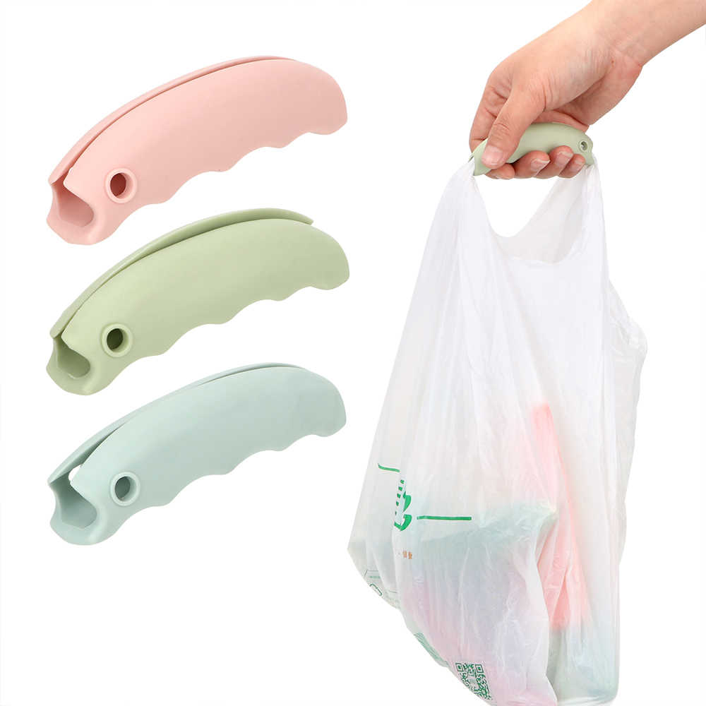 1pc Comfortable Bag Lifter Bag Handle Convenient Bag Carry Tool Bag Hanging Save Effort Tool Silicone Kitchen Tool Mention Dish