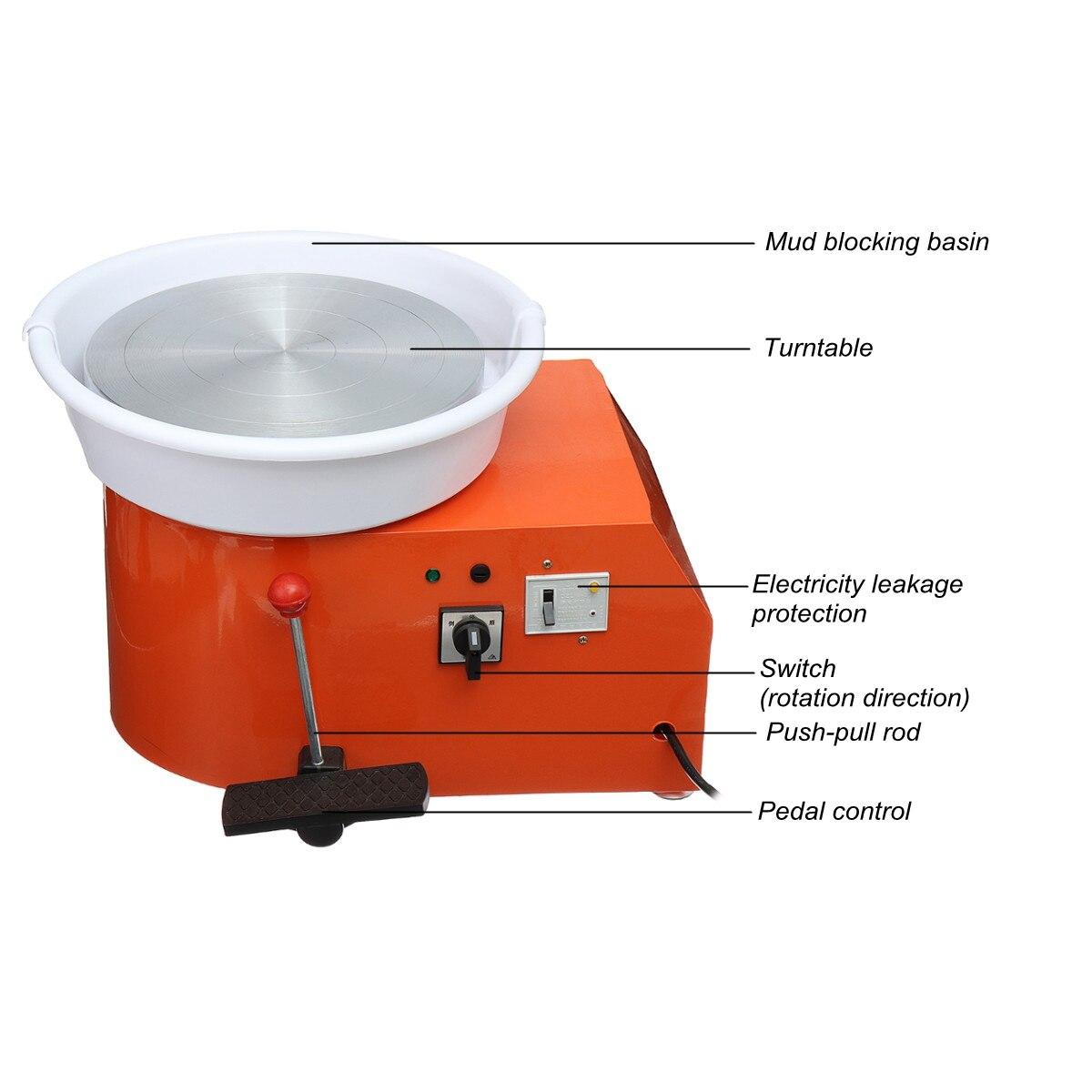 220 V 350 W Électrique Poterie Roue En Céramique Machine 300mm argile céramique Potter Kit Pour Travail En Céramique Céramique - 3