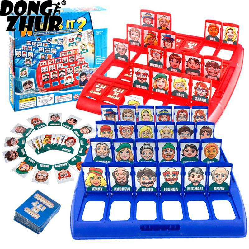 Who Is It Classic Board Game Family Guessing Games Kids Children Toy Gift DIY7470