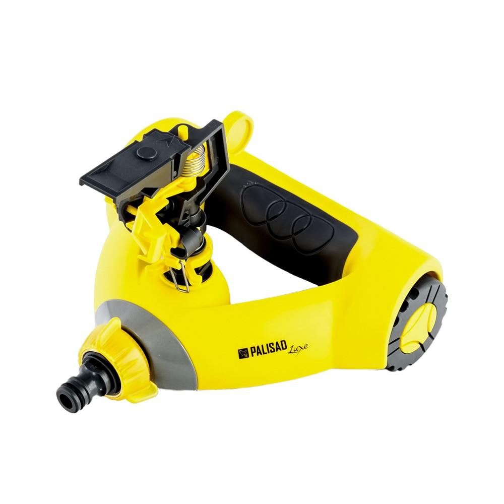 Garden Sprinklers PALISAD 65408 pulse puller, weighted on wheels impact style rain like garden sprinklers black 5 pcs