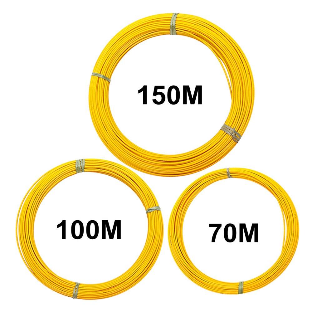 70/100/150 m 6mm câble en fibre de verre extracteur Guide fil poisson ruban Conduit Conduit Conduit jaune Kit d'accessoires de câblage électrique