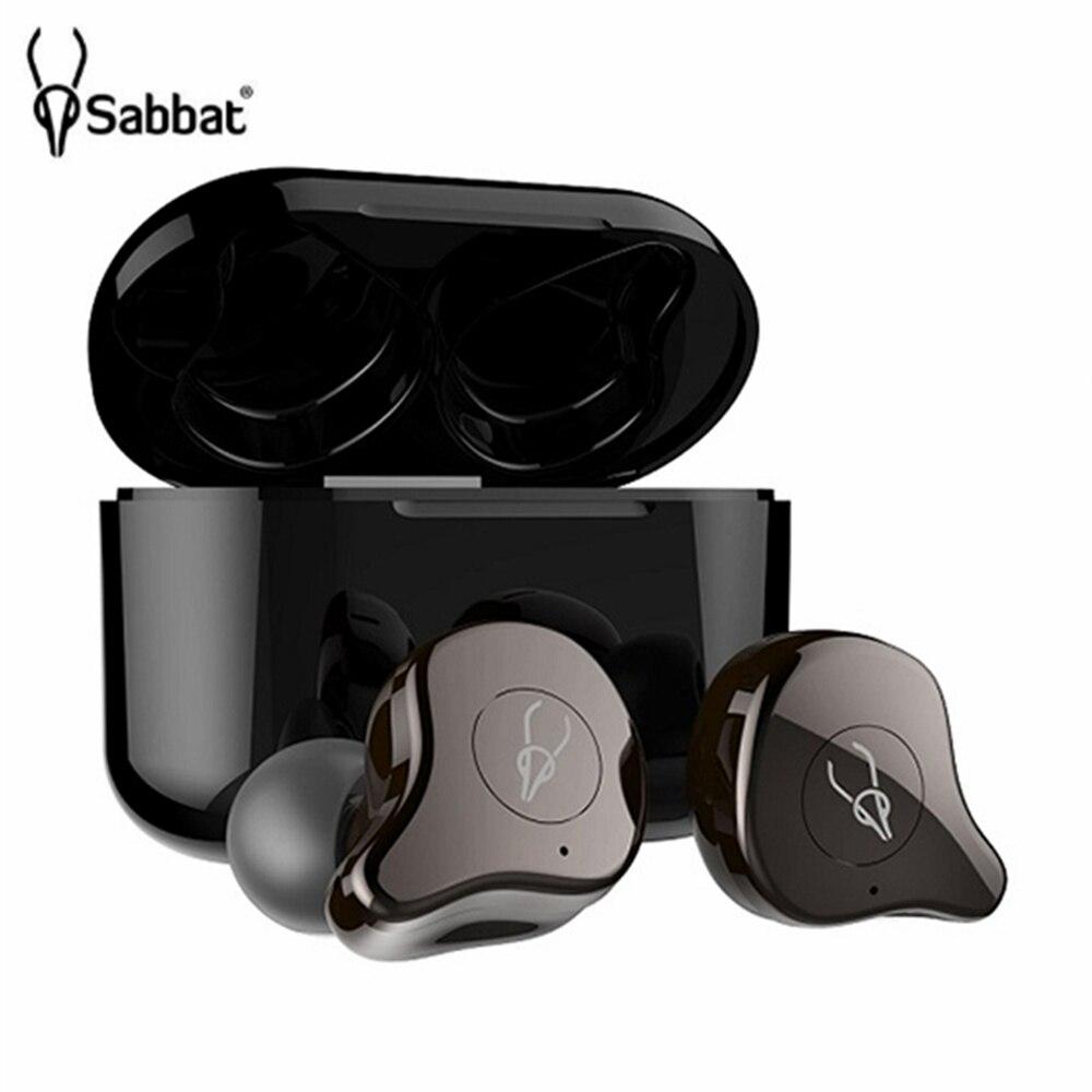 Original Sabbat E12 TWS Bluetooth 5.0 casque sans fil HiFi stéréo écouteurs sport écouteurs avec étui de charge rapide pour la course