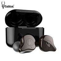 Original Sabbat E12 TWS Bluetooth 5.0 Wireless Headset HiFi Stereo Earbuds Sports Earphones with Fast Charging Case for Running