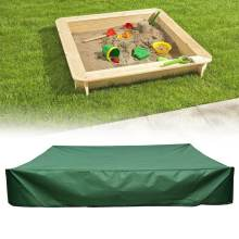 All-Purpose Waterproof Dust Cover Square Drawstring Sandbox Sandpit Dustproof Cover Canopy Green Oxford Cloth 4 Sizes