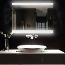الحمام LED متوهجة مرآة الماكياج مرآة لمستحضرات التجميل الحديثة ملموس Intellegent مرآة عديمة اللهب مرآة مثبتة على الجدار HWC