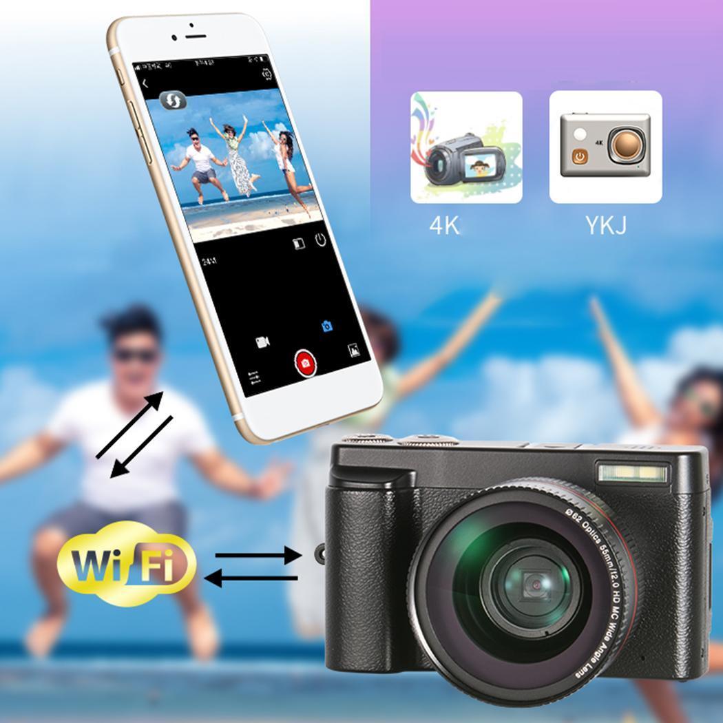 Noir HD WIFI Accueil Multi-fonction ensemble numérique Caméra 2.0EV DV Vidéo 90 minutes, photo 150 minutes aucun aucun