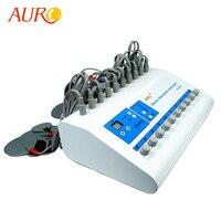 Бесплатная доставка 2019 AURO Новый портативный дешевый Электрический стимулятор мышц брюшной мускулатуры Электростимуляция машина для спа