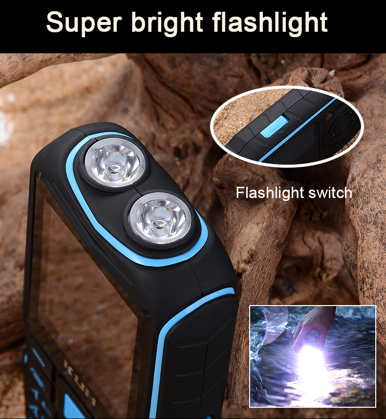 Russian keyboard FM Mobile Phone 3800mAh battery Power Bank Dual High Flashlight Quick Dial Rugged Dual sim Cell phones KUH T3