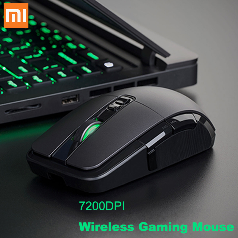 Xiaomi Computer-Mouse-Gamer Gaming-Mouse 7200DPI Wireless RGB USB 6 6-Keys Backlight