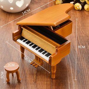 Piano Wooden Music Box Style B