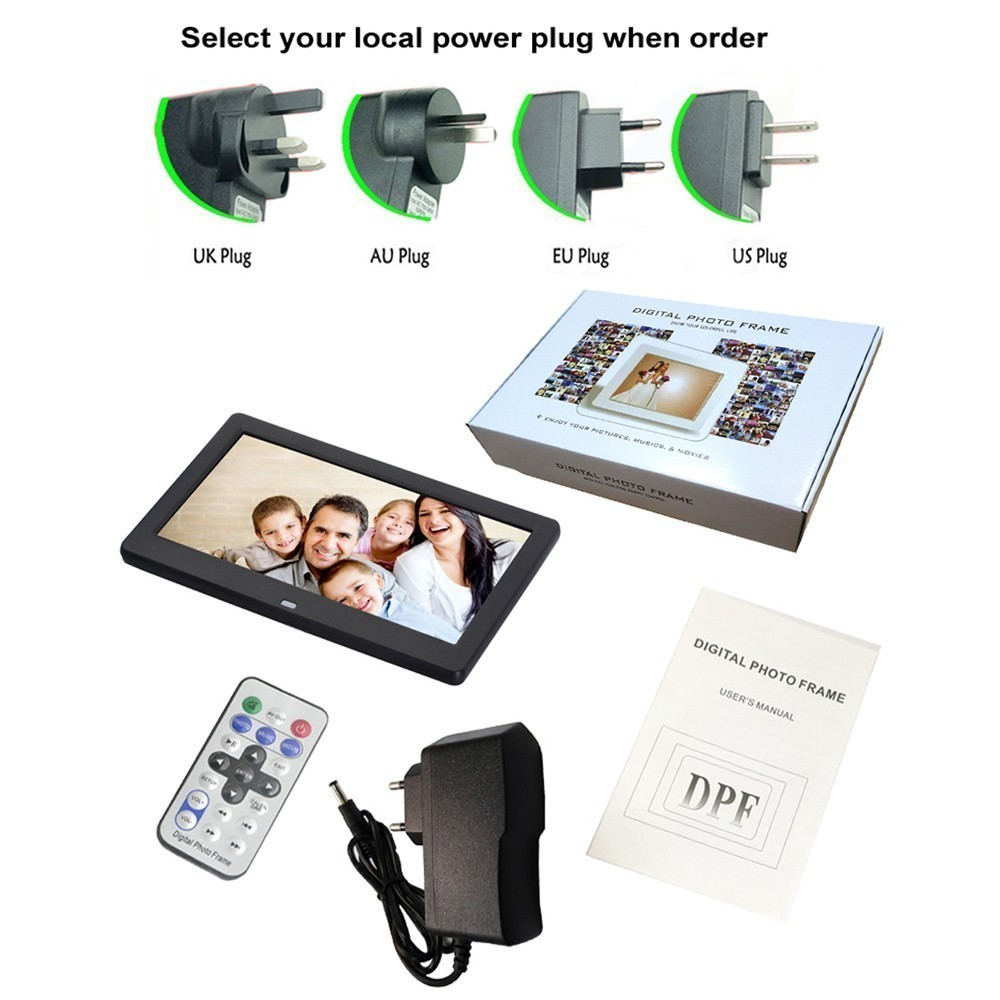 Nouveau 10 pouces écran LED rétro-éclairage HD 1024*600 cadre Photo numérique Album électronique Photo musique film pleine fonction bon cadeau - 6