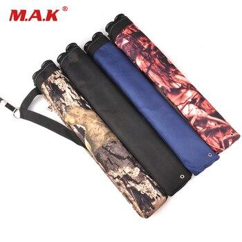 4 kolory strzałka kołczan 45X8.5 cm tkanina Oxford 2 punkt pojedyncze ramię strzałka torba dla łucznictwo polowanie strzelanie
