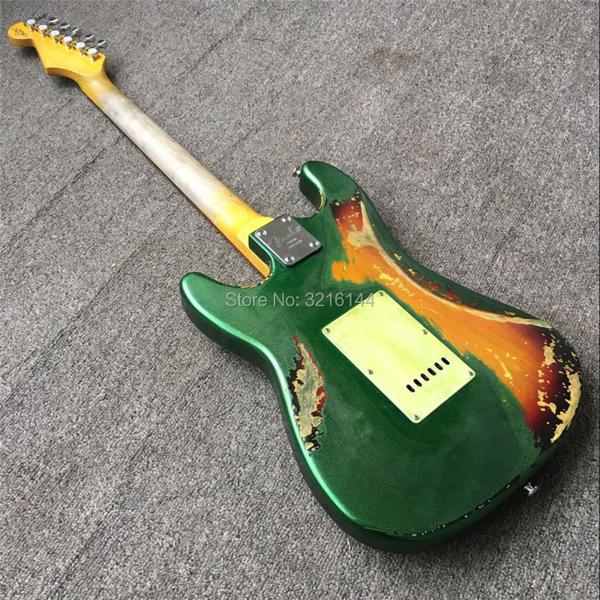 In Stock Antique relic guitars handmade, real photos