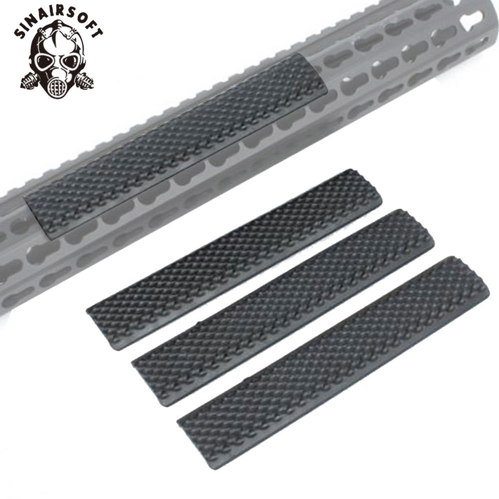 Tactical Rubber Non-slip Panel Cover Protector Fit KeyMod Rifle Handguard Rail Mount For Paintball Shooting Hunting Accessories