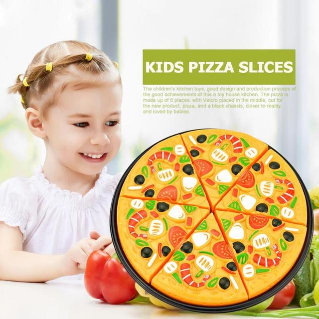 9Pcs/Set Kids Pizza Slices Food Pretend Play Toy Dinner Kitchen Toys Cutting Girls Boys Children Educational Toys with Knife 2