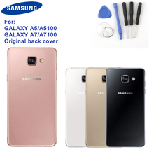 Samsung Original Back Battery Door Glass Cover For Samsung Galaxy 2016 Edition A5 A510 A510F A5100 A7 A7109 A7100 A710F A710 защитная плёнка для samsung galaxy a5 2016 sm a510f front