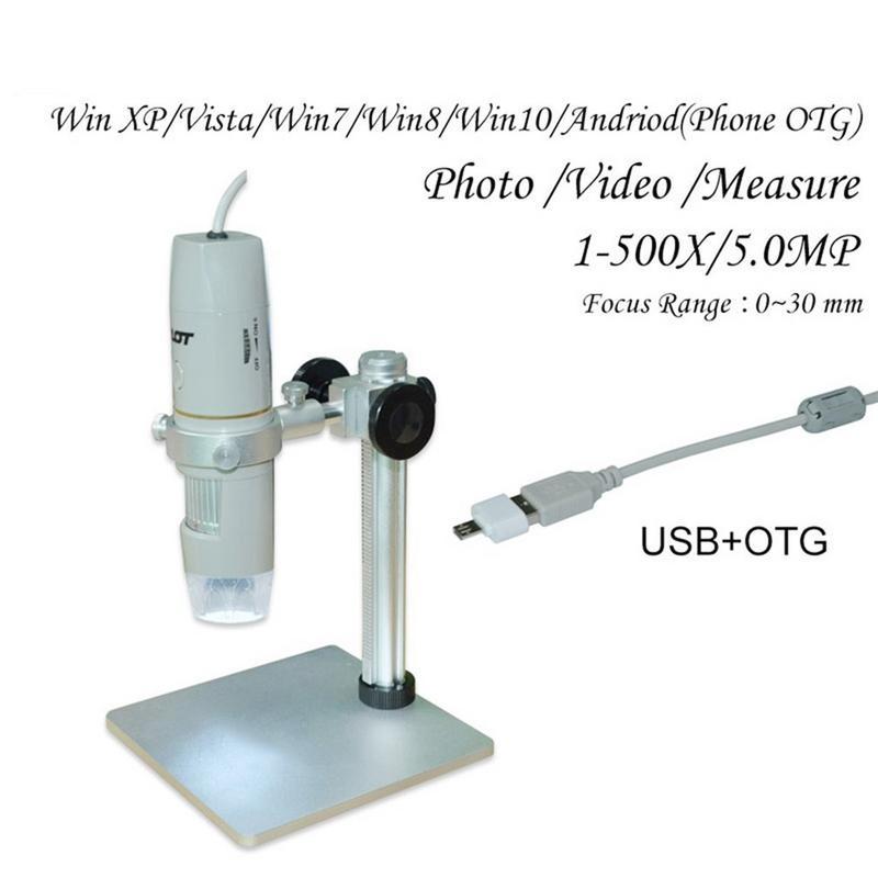 Цифровые микроскопы USB электронный микроскоп видео HD 1080P 5 дюймовый микроскоп с дистанционным промышленной Камера Лупа 8 светодиодный - 6