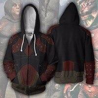 Bianyilong 2018 New Hoodies Sweatshirts Coat Hoodies Costume Legion Clothing Skyrim 3d Printed Zipper Hoodies Tops