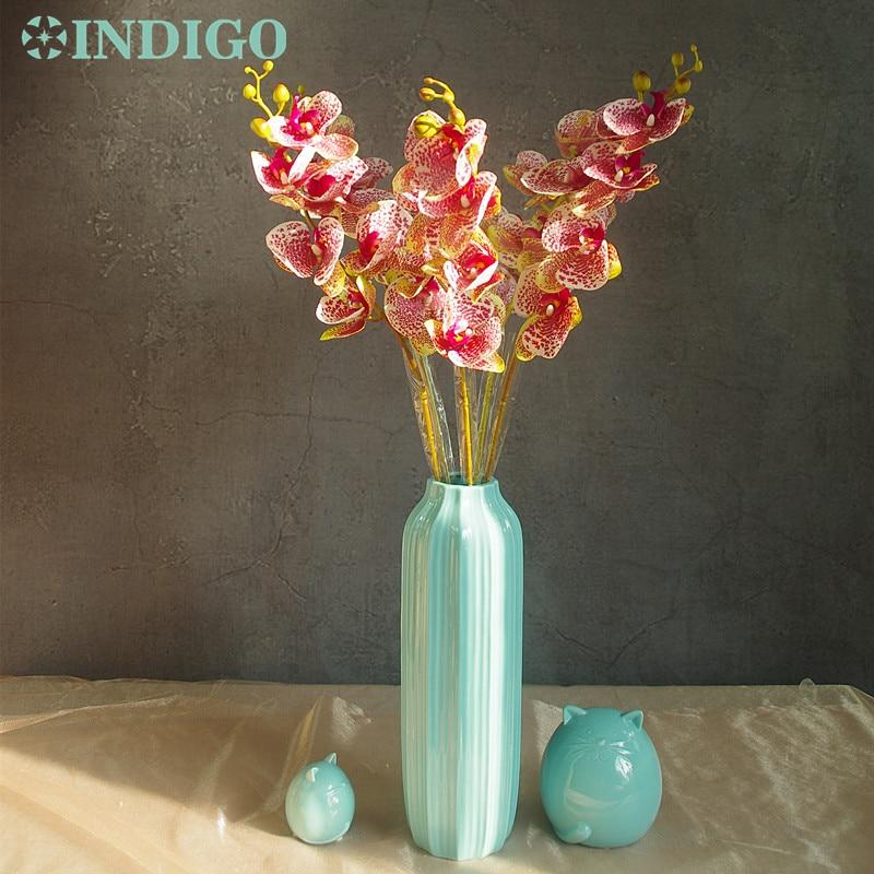 INDIGO- Phalaenopsis Orchidee Zijde Real Touch Flower Kunstbloem - Feestversiering en feestartikelen - Foto 4