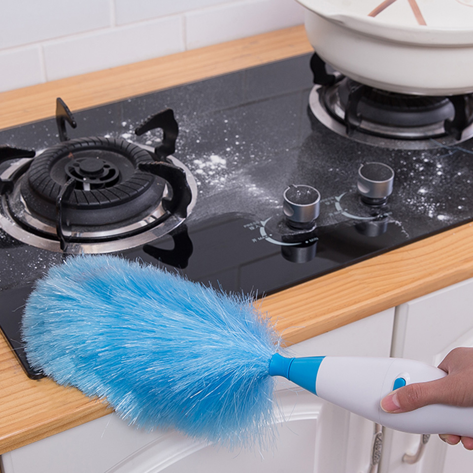 Image 4 - Dust Cleaner Electric Spin Duster Feather Duster Cleaning Household Straw Tube Vacuum Attachment Dust Cleaner Brush Dirt Remover-in Cleaning Brushes from Home & Garden