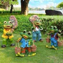 Home Garden Decoration Simulation Animal Frog Garden Sculpture Outdoor Garden Landscape Decoration Park Resin Crafts