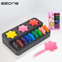 EZONE bébé 12 couleurs cire Crayon sûr matériau Non toxique certifié jouet sécurité enfants éducation précoce papeterie anneau neige forme
