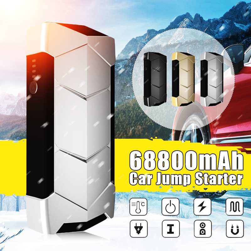 68800 mAh Mini Portable 12 V voiture batterie saut démarreur Auto Jumper moteur batterie externe démarrage avec ligne de données Clip intelligent avec sac
