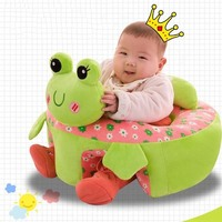 Infant Learning Seat Plush Chair Safety Seat Cartoon Pattern Plush Toy Children Support Seat Kids Sofa Baby Bedroom Decoration