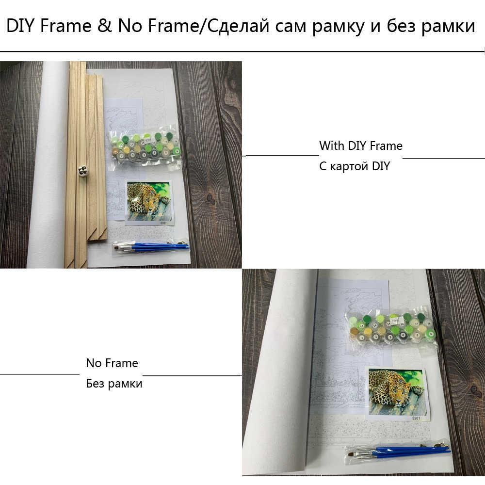 BAISITE ממוסגר נוף ציור שמן DIY על ידי מספרי ציור & קליגרפיה קיר אמנות בית תפאורה גודל 40*50cm e874