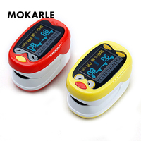 Cartoon Cute Finger Oximeter Portable Pulse Oximeter OLED Display Heart Rate Monitor Blood Pressure Monitors Children Oximetro